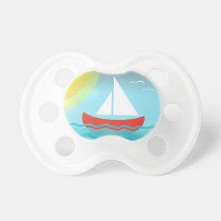 Sailing Blue Sea Cartoon Summer Navy Nautical Chic Pacifier