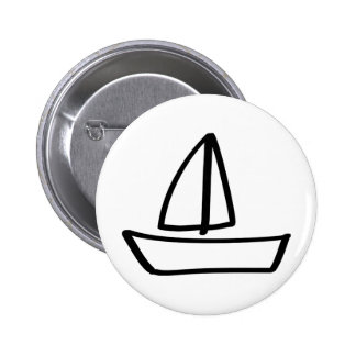 sailing boat 2 inch round button