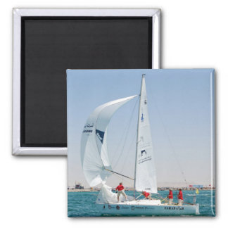Sailing Boat 2 Inch Square Magnet