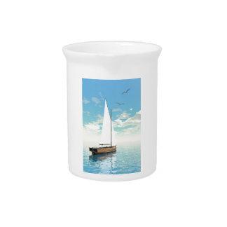 Sailing boat - 3D render Drink Pitcher