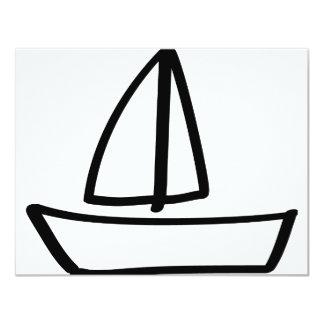 sailing boat 4.25x5.5 paper invitation card