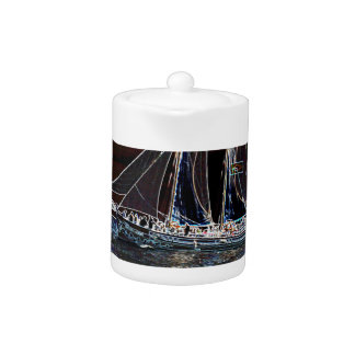 Sailing Boat- Abstract Photograph Teapot