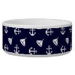 Sailing boat and anchor pattern bowl