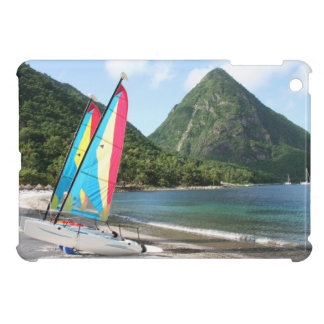 Sailing Boat and water sports equipment on a beach Cover For The iPad Mini
