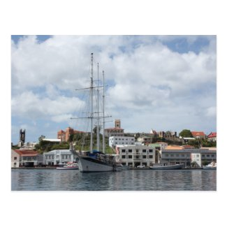 Sailing Boat at Grenada Postcard