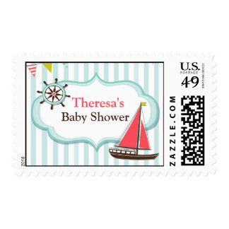Sailing Boat Baby Shower Medium Postage