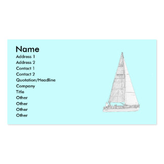 Sailing Boat Double-Sided Standard Business Cards (Pack Of 100)