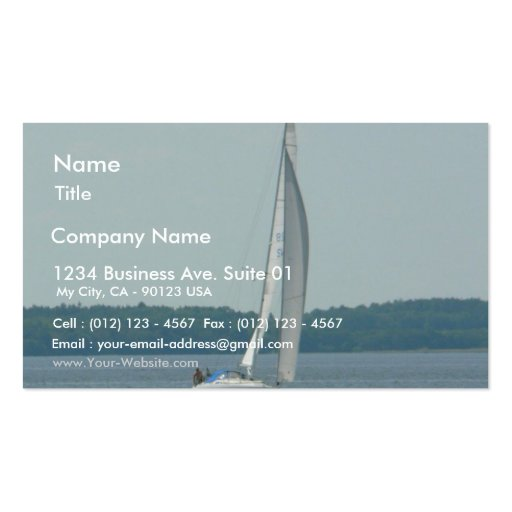Sailing boat double sided standard business cards pack of for Boat business cards