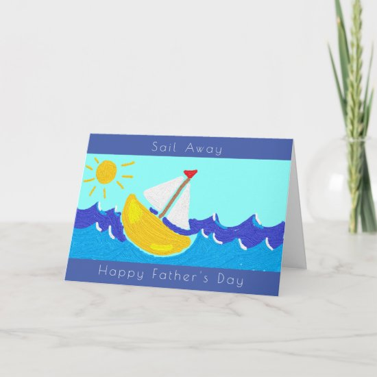 Sailing Boat Father's Day Card