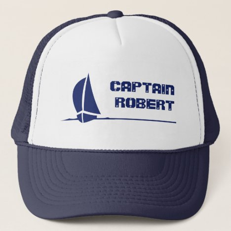 Sailing Boat Hat with customizable text