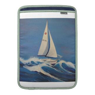 """Sailing boat in waves 13"""" Macbook Air Sleeve"""