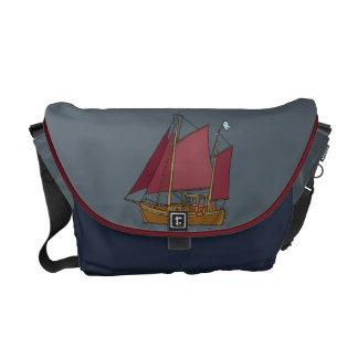 Sailing boat messenger bag