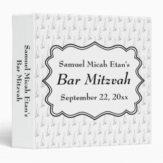 Sailing Boat Nautical Bar Mitzvah Celebration Binder