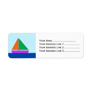 Sailing Boat on the Water Label