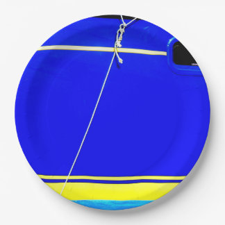 Sailing boat paper plate
