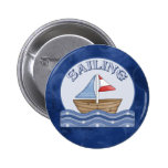 Sailing Boat Pinback Buttons