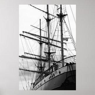 Sailing boat print