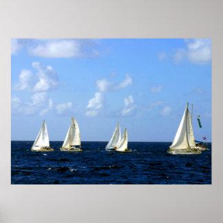 "Sailing Boat Regatta 14"" x 11"" Value Poster"
