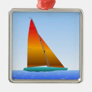 Sailing Boat - Sailing ship (02) Metal Ornament