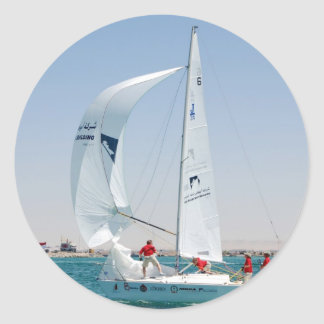 Sailing Boat Classic Round Sticker