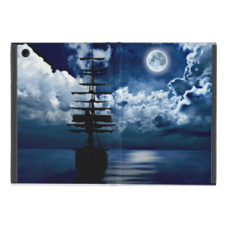 Sailing boat with full moon powiscase cover for iPad mini