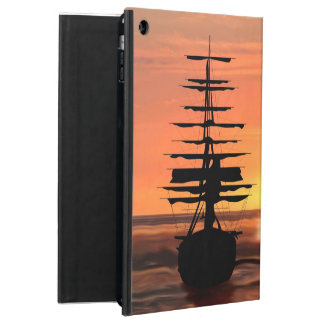 Sailing boat with sunrise powiscase case for iPad air