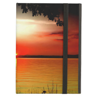 Sailing boat with sunrise powiscase iPad air cover