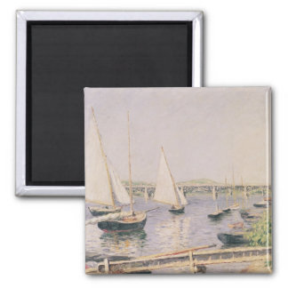 Sailing boats at Argenteuil, c.1888 2 Inch Square Magnet