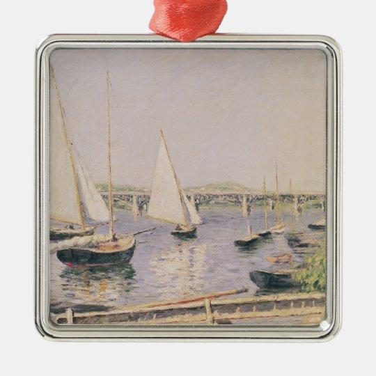 Sailing boats at Argenteuil, c.1888 Metal Ornament