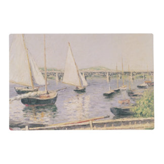 Sailing boats at Argenteuil, c.1888 Placemat