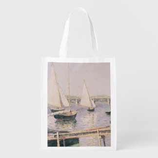 Sailing boats at Argenteuil, c.1888 Reusable Grocery Bag