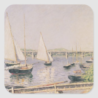 Sailing boats at Argenteuil, c.1888 Square Sticker