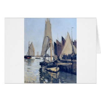 Sailing Boats at Honfleur by Claude Monet Card