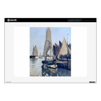 """Sailing Boats at Honfleur by Claude Monet Decal For 15"""" Laptop"""