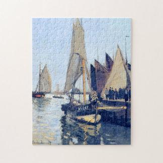 Sailing Boats at Honfleur Monet Fine Art Puzzle