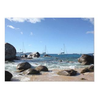 Sailing Boats at the Baths, BVI 5x7 Paper Invitation Card