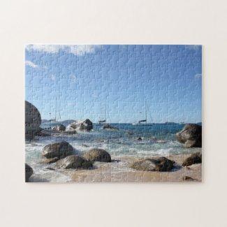 Sailing Boats at the Baths, BVI Jigsaw Puzzle