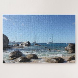 Sailing Boats at the Baths, BVI Jigsaw Puzzle