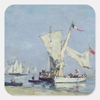 Sailing Boats, c.1869 Square Sticker
