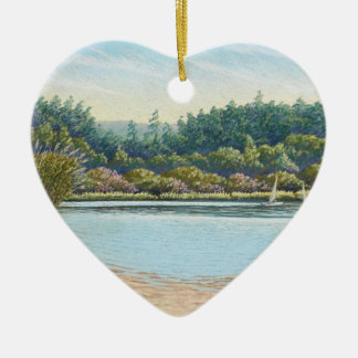 Sailing Boats, Frensham Ponds Happy Best Friends Ceramic Ornament