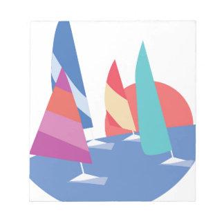 Sailing Boats Notepad