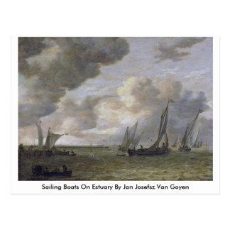 Sailing Boats On Estuary By Jan Josefsz.Van Goyen Postcard