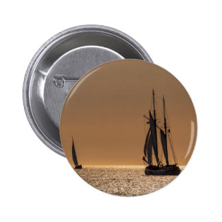 Sailing boats on shore of the Baltic Sea 2 Inch Round Button