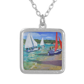Sailing Boats Silver Plated Necklace