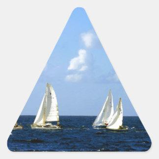 Sailing Boats Triangle Sticker