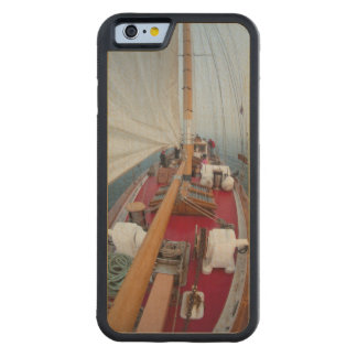 Sailing Boundary Pass Carved Maple iPhone 6 Bumper Case