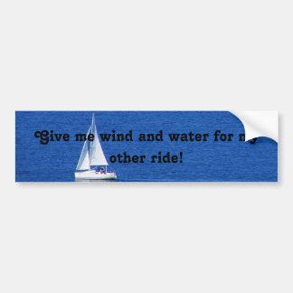 Sailing Car Bumper Sticker