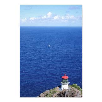 Sailing by Makapu'u Lighthouse Photo Print
