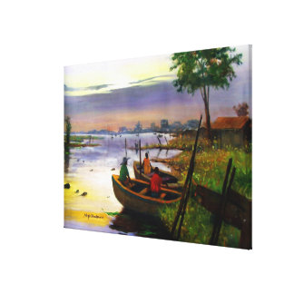 SAILING BY MOJISOLA A GBADAMOSI OKUBULE OIL ON CAN CANVAS PRINT