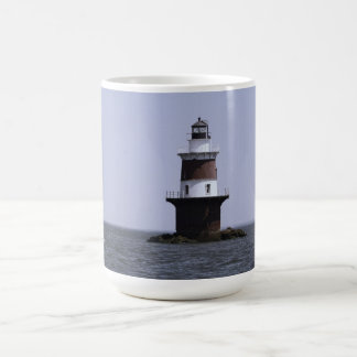 Sailing by Peck's Ledge Lighthouse Mug